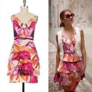 Moulinette Soeurs Anthropologie Pink Floral Dress